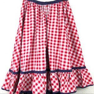 VTG Gingham Denim Reversible Skirt